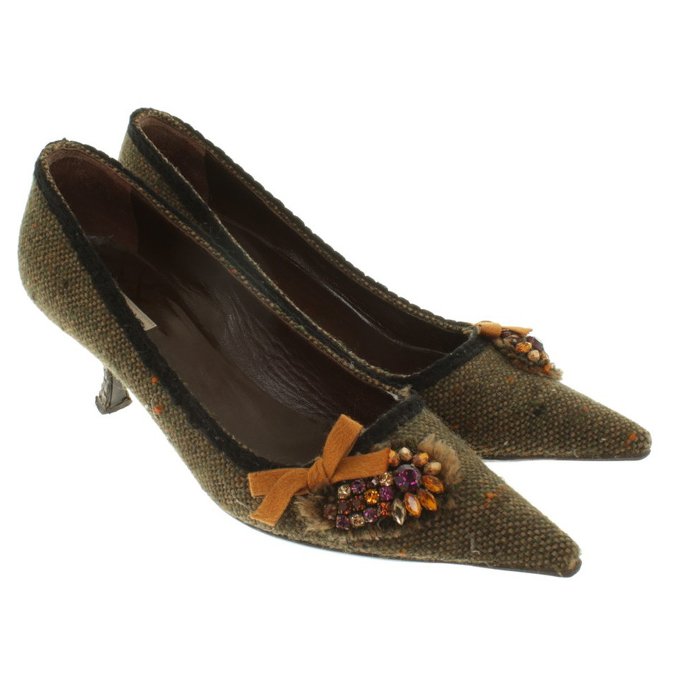 Prada pumps Tweed