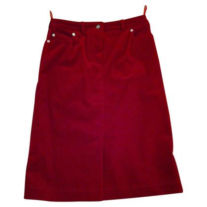 Bogner Red fine cord skirt