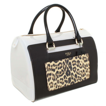 "Furla Borsa ""candy M satchel"" in un mix di materiali"