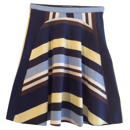 Baum und Pferdgarten skirt with stripes
