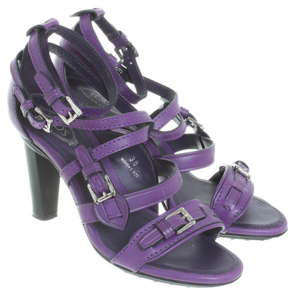 Tod's Leather Sandals purple