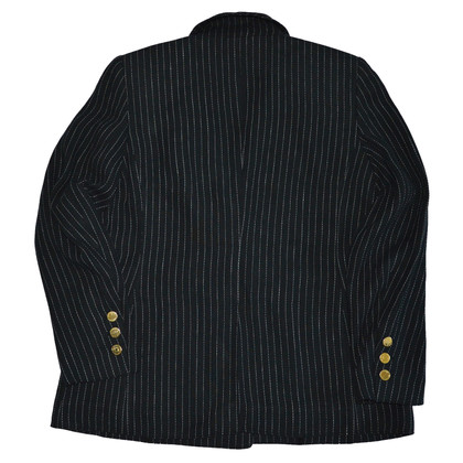 Rena Lange Black Striped Linen Silk