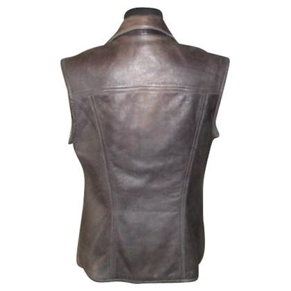Strenesse Blue Leather vest
