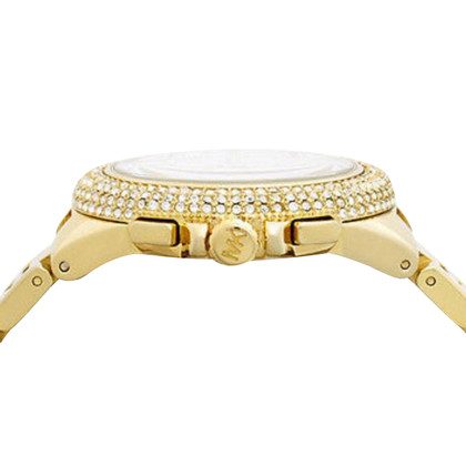 Michael Kors Oversize Gold-Tone Watch embellished