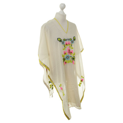 Hoss Intropia Poncho with flowers pattern