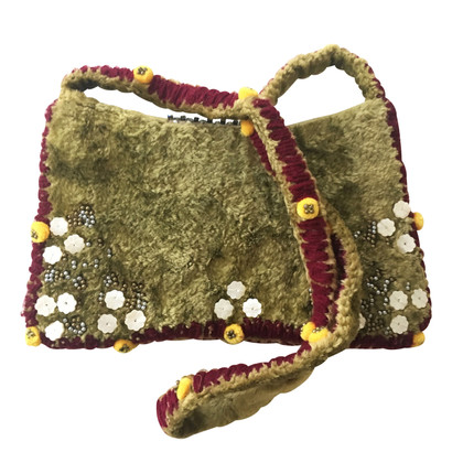Antik Batik Shoulder bag with rhinestones
