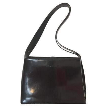 Rena Lange Schwarze Handtasche aus Lackleder