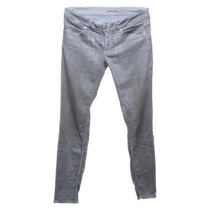 Drykorn Hose in Grau/Silber