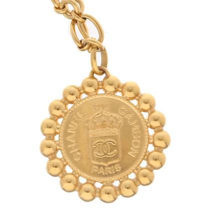 Chanel Gouden ketting met hanger