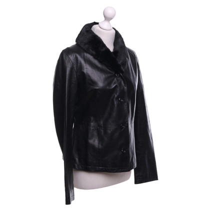 JOOP! Leather Blazer in Black