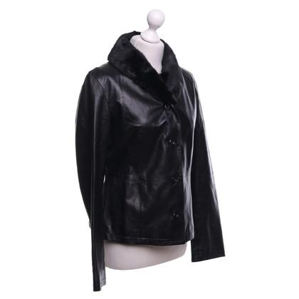 JOOP! Leather blazer in black