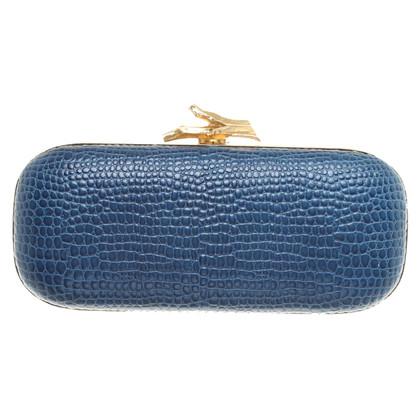 Diane von Furstenberg Box clutch with reptile embossing