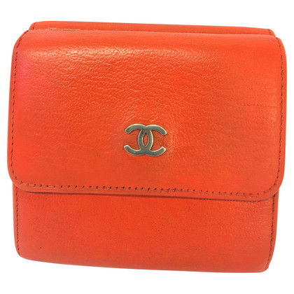 Chanel Brieftasche in Orange