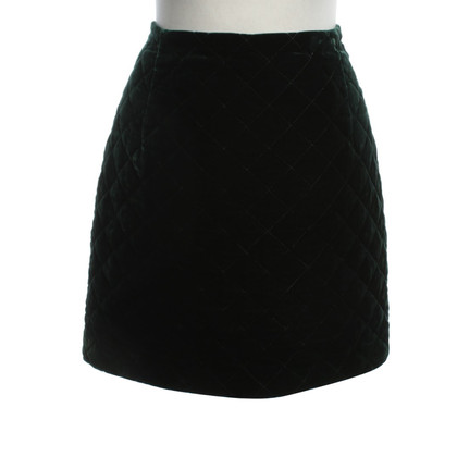 Sandro Quilted skirt in green