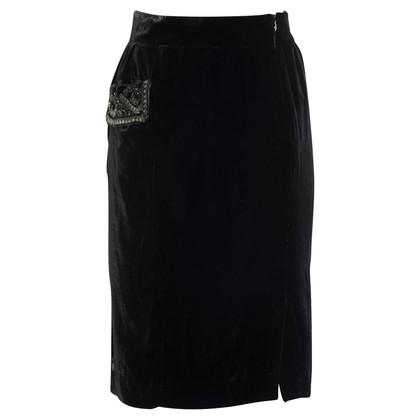 Blumarine Velvet skirt