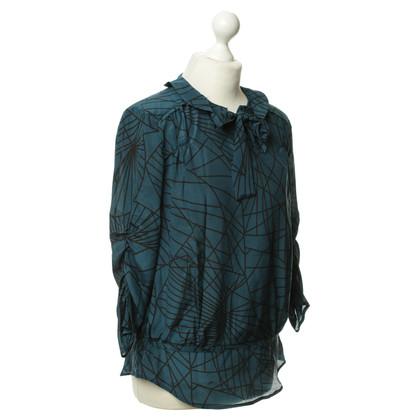 Luisa Cerano Button blouse silk