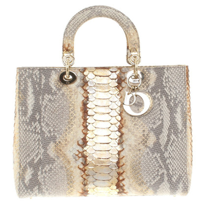 "Christian Dior ""Large Lady Dior"" made of python leather"