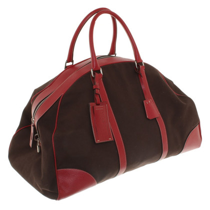 Prada travel bag made of canvas Bicolor