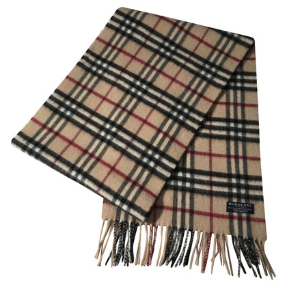 Burberry Beige checkered Shawl