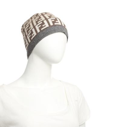 Fendi Strickmütze mit Logo-Muster