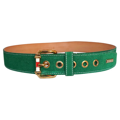 Dsquared2 Green suede belt