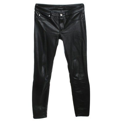 Set Synthetic leather pants in black