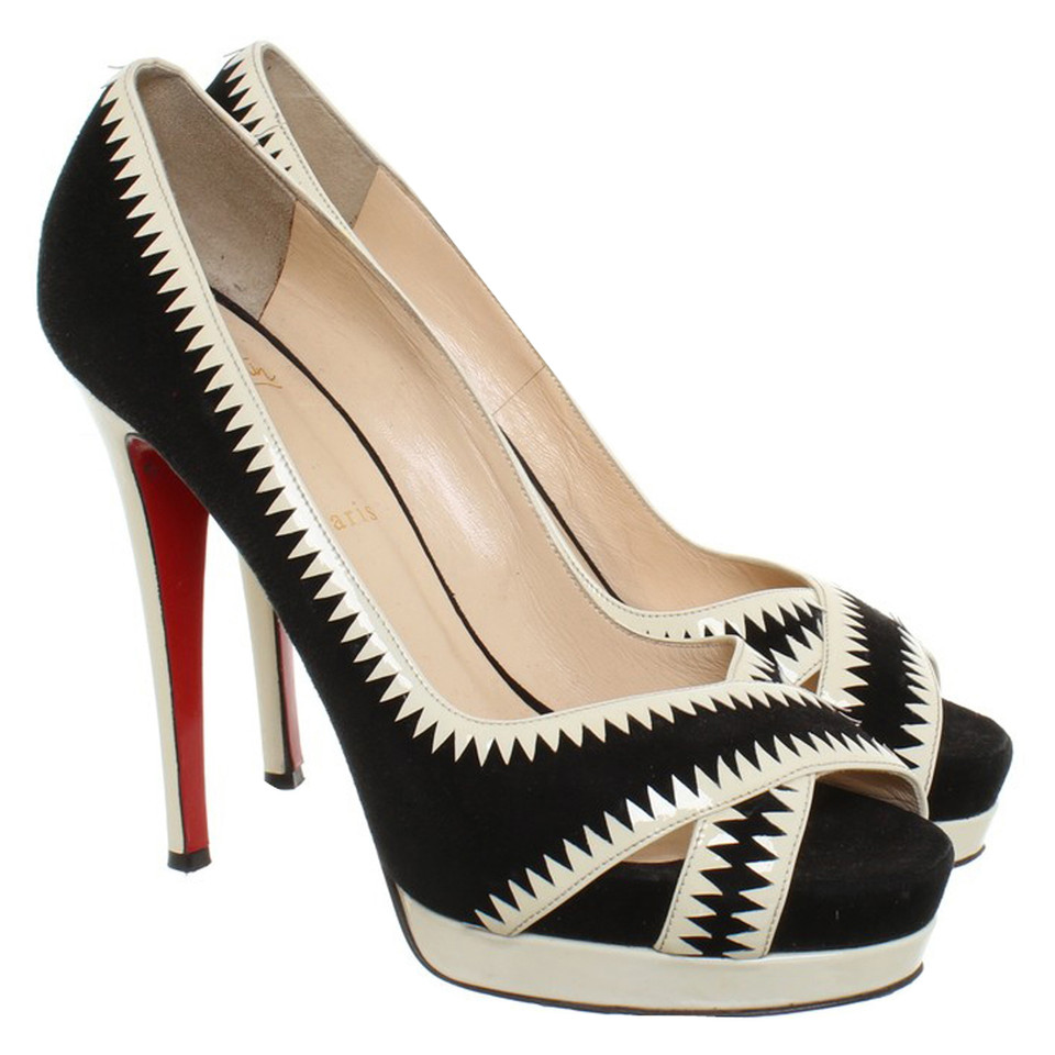 Christian Louboutin Peeptoes with plateau