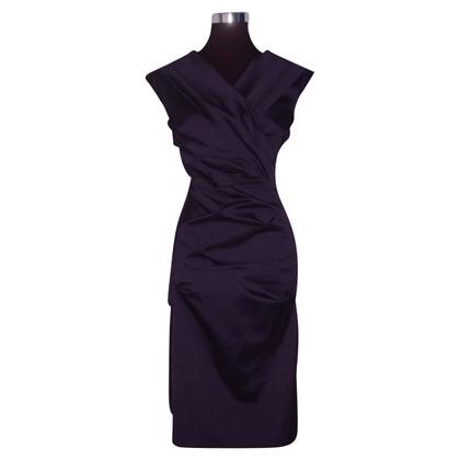 Talbot Runhof zijden jurk Drape