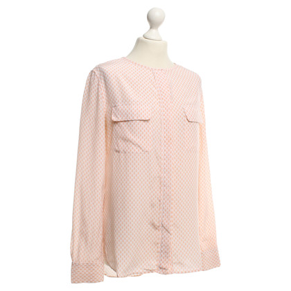 Equipment Silk blouse with dot pattern