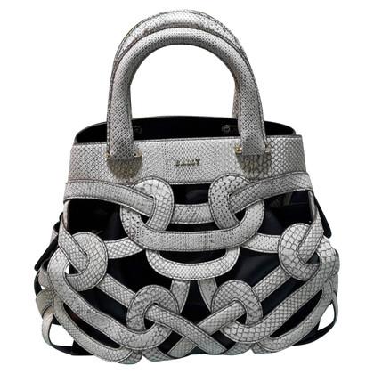 Bally Python leather handbag