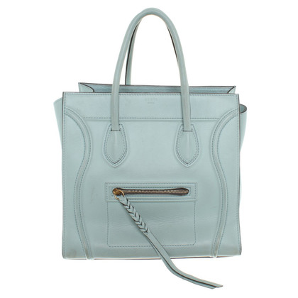 "Céline ""Luggage"" handbag in mint green"