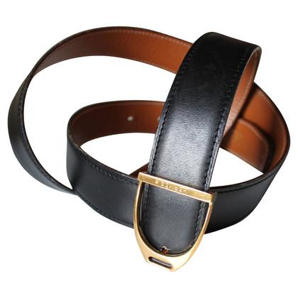 Hermès Wendegürtel schwarz / braun