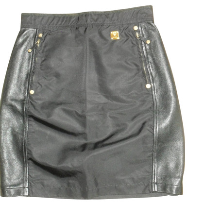 MCM skirt leather details