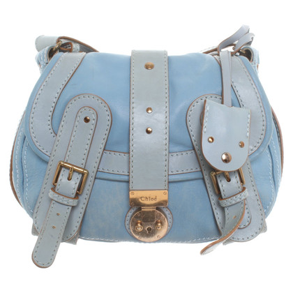 Chloé Leather shoulder bag in turquoise