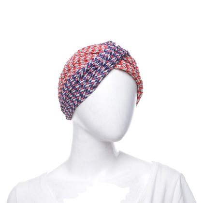 Missoni Turban in Rot/Blau