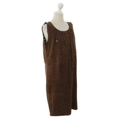 Marc Cain Leather dress in Brown
