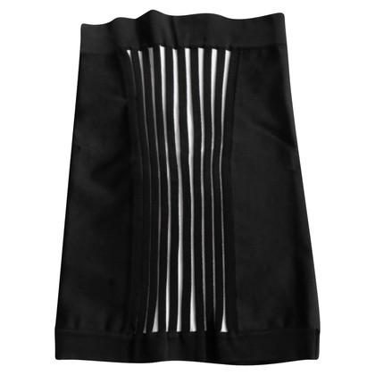 Balmain Jupe en tricot noir / blanc