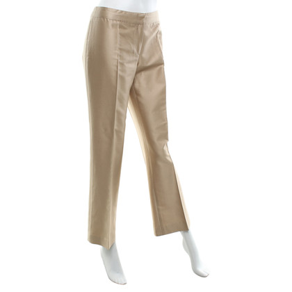Alberta Ferretti Gold-colored trousers with silk