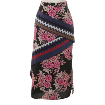 MSGM MIDI waist silk skirt