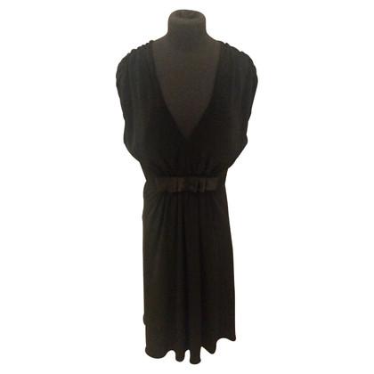 Barbara Schwarzer Kleid in Schwarz