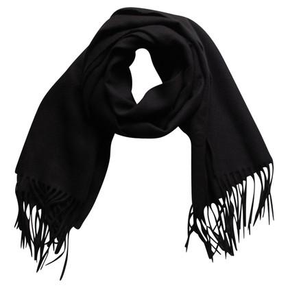 Moschino Moschino Black Wool Scarf