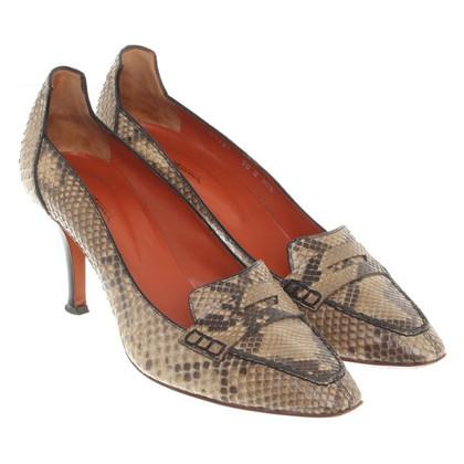 Santoni pumps in leather