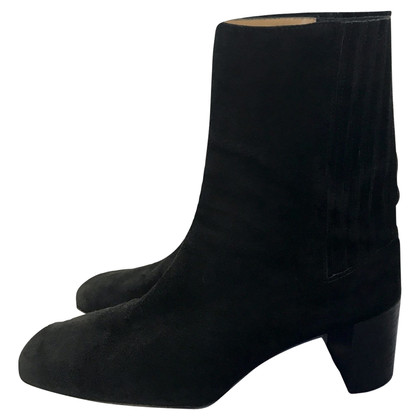 Bally Black Suede Ankle Boots