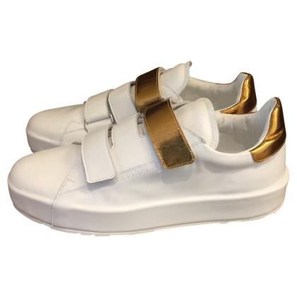 Jil Sander Sneakers in white / gold