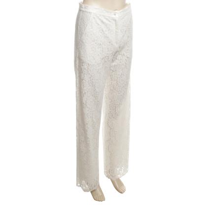 Valerie Khalfon  Lace pants in cream