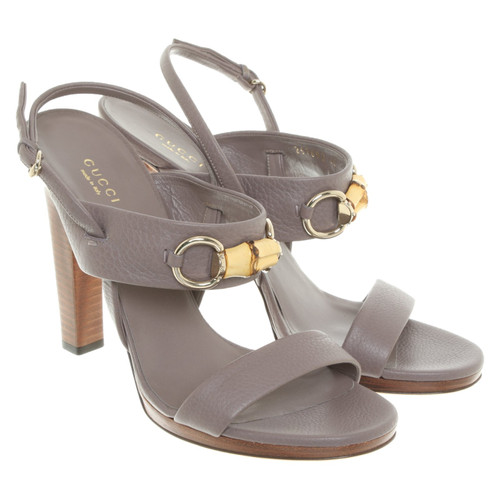 9e4b3c895de5 Gucci Sandals in taupe - Second Hand Gucci Sandals in taupe buy used ...