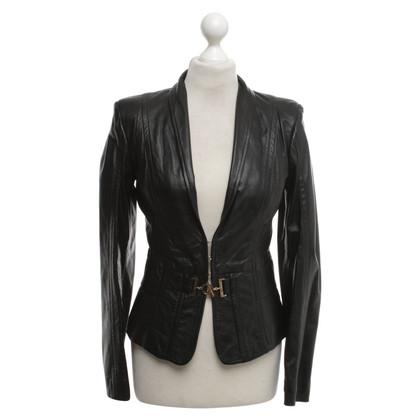 Elisabetta Franchi Leather jacket in black