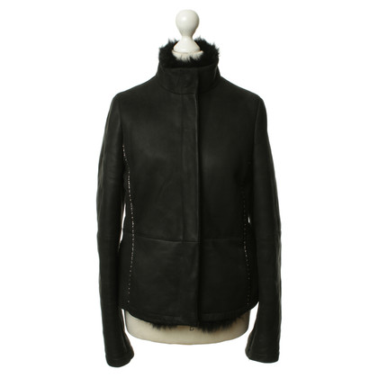 Pollini Suede jacket in black