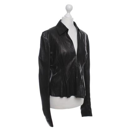 Roberto Cavalli Leather Jacket in Black