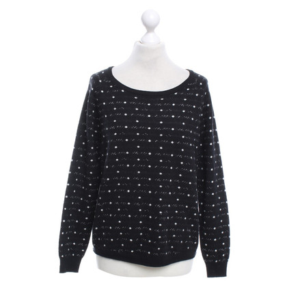 French Connection Pullover in black / white